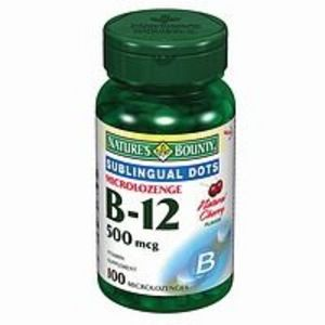Nature's Bounty Microlozenge B-12 500mcg