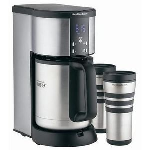 Hamilton Beach Stay-or-Go Deluxe 10-Cup Thermal Coffee Maker