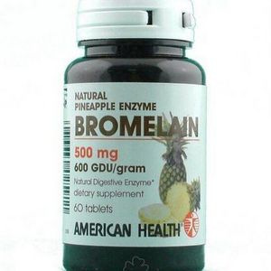 American Health NATURAL PINEAPPLE ENZYME BROMELAIN - 60 Tablets