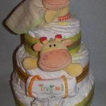 Diaper Cakes by Becca Orange and Yellow Giraffe Diaper Cake