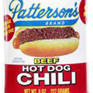Patterson's Beef Hot Dog Chili