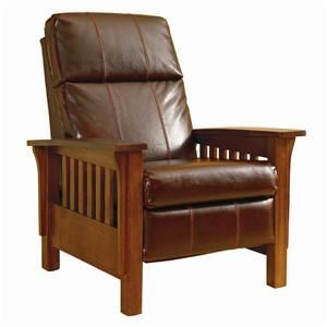 Lane Montana Mission Style High Leg Recliner