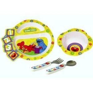 The First Years Sesame Street 4 Piece Feeding Set