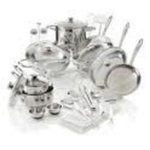 Wolfgang Puck Bistro Elite 28-Piece Stainless Steel Cookware Set