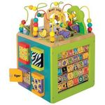 Toysmith Busy Zoo Activity Cube