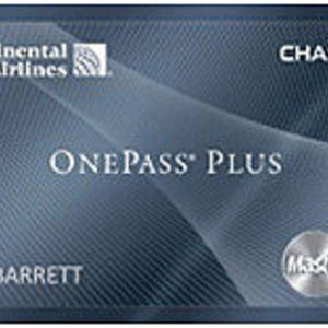 Chase - Continental Airlines OnePass Plus MasterCard