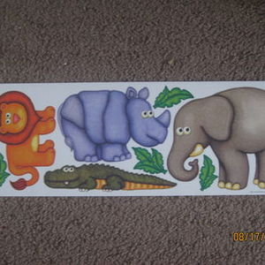 Beautiful Main Street Wall Creations Jumbo Stickers   Safari Part 14