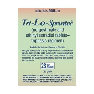 Tri-Lo Sprintec Birth Control Pills
