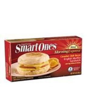 Weight Watchers Smart Ones Morning Express Canadian Style Bacon English Muffin Sandwich