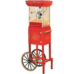 Nostalgia Electrics Old Fashioned Movie Time Popcorn Cart