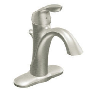 Moen Eva Brushed Nickel One-Handle High Arc Bathroom Faucet
