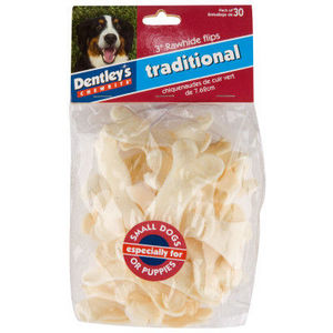 "Dentley's 3"" Traditional Rawhide Flips"