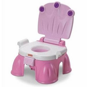 Fisher-Price Pink Princess Stepstool Potty in Pink
