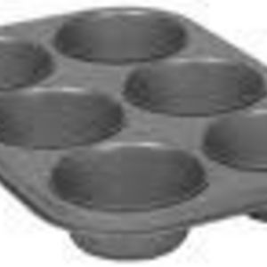 Bakers Secret 6-Cup Texas Muffin Pan