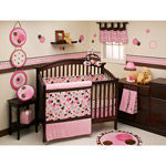 Walmart George Baby Avalon 4-Piece Crib Set, Pink