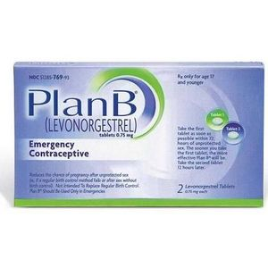 Plan B Emergency Contraceptive Pill