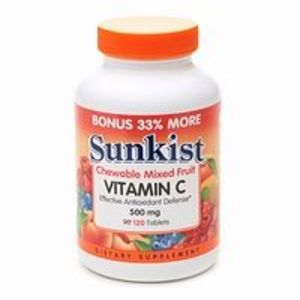 Sunkist Vitamin C Chewable 500 mg