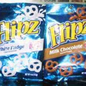 Flipz - White Fudge and Chocolate covered Pretzels