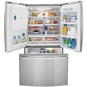french with kenmore stainless elite door inspiring refrigerator white water steel doors dispenser