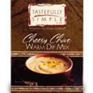 Tastefully Simple Cheesy Chive Warm Dip Mix