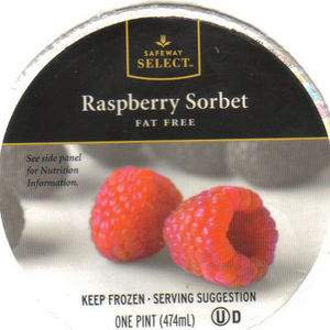 Safeway Select Raspberry Sorbet
