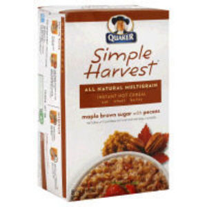 Quaker Simple Harvest Instant Oatmeal Maple Brown Sugar with Pecans