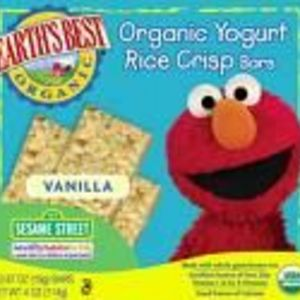 Earth's Best Organic Yogurt Rice Crisp Bars - Vanilla