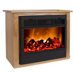 Heat Surge Amish Roll-n-Glow Electric Fireplace