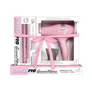 BaByliss Pro Ceramix Xtreme Pink Dryer/Iron (Breast Cancer Limited Edition)
