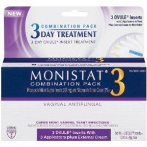 Monistat 3 Combination Pack: 3 Day Ovule Insert Treatment