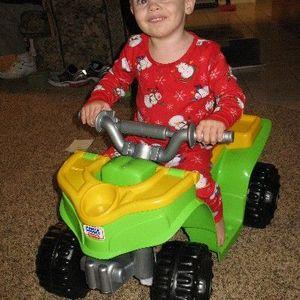 Fisher-Price Power Wheels Lil Kawasaki Boy's Sport Quad