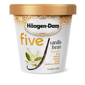 Haagen Dazs Five Vanilla Bean Ice Cream