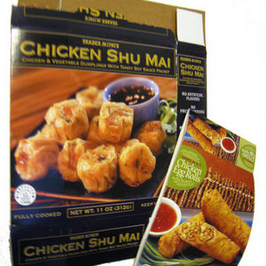 Trader Joe's Trader Ming's Chicken Egg Rolls and Chicken Shu Mai