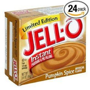 Jello Pumpkin Spice instant pudding
