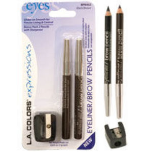 L.A. Colors Expressions Eyeliner & Brow Pencil - Black Brown