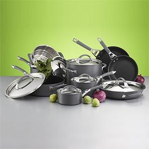 Kirkland Signature 15 Piece Hard Anodized Aluminum Cookware Set Item 483212