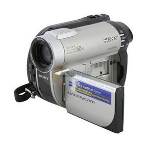Sony - DCR-DVD650 DVD, Flash Media Camcorder