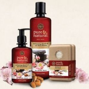 Pure & Natural Moisturizing Almond Oil & Cherry Blossom Soap Collection