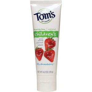 Tom's of Maine Children's Flouride-Free Silly Strawberry Toothpaste