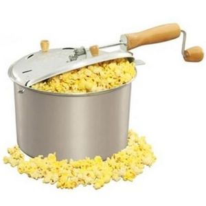 West Bend Aluminum Stovetop Popcorn Popper
