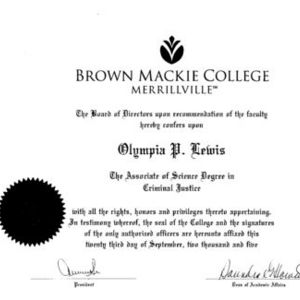 Brown Mackie College - Criminal Justice