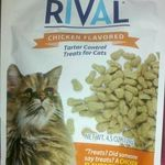 Rival Chicken Flavored Tartar Control Treats for Cats
