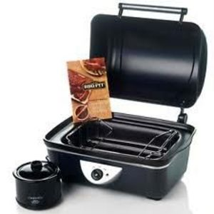 Rival BBQ Pit Countertop Slow Roaster and Crock Pot