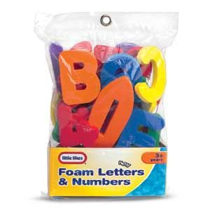 Little Tikes Bath Time Foam Letters & Numbers