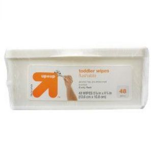 up & up Flushable Toddler Wipes