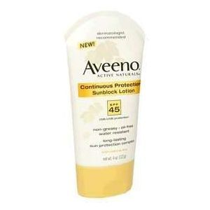 Aveeno Continuous Protection Sunblock Lotion SPF 45