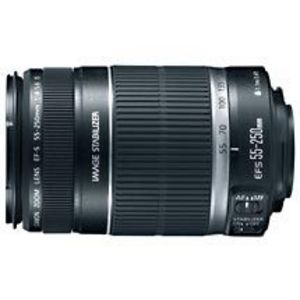 Canon - Canon EF-S 55-250mm f/4-5.6 IS Image Stabilizer Telephoto Zoom Lens