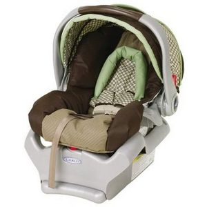 Graco Blue And Brown Car Seat