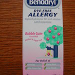 Benadryl Children's Dye Free Allergy Antihistamine