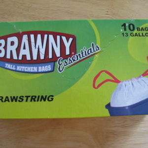Brawny Essentials Tall Kitchen Bags with Drawstrings